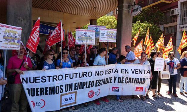 Los trabajadores de Contact Center se concentran en Zaragoza