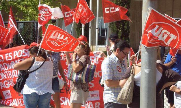 La contrata de limpieza del Hospital Obispo Polanco de Teruel retrasa sistemáticamente el pago de los salarios